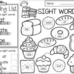 Printable Coloring Valentines Sight Word Sheets Christmas