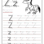 Printable Letter Z Tracing Worksheets For Preschool | Letter
