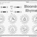 Rhymingksheets For Kindergartenksheet Introducing Patterns