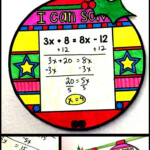 Solving Equations Holiday Ornaments | Christmas Math