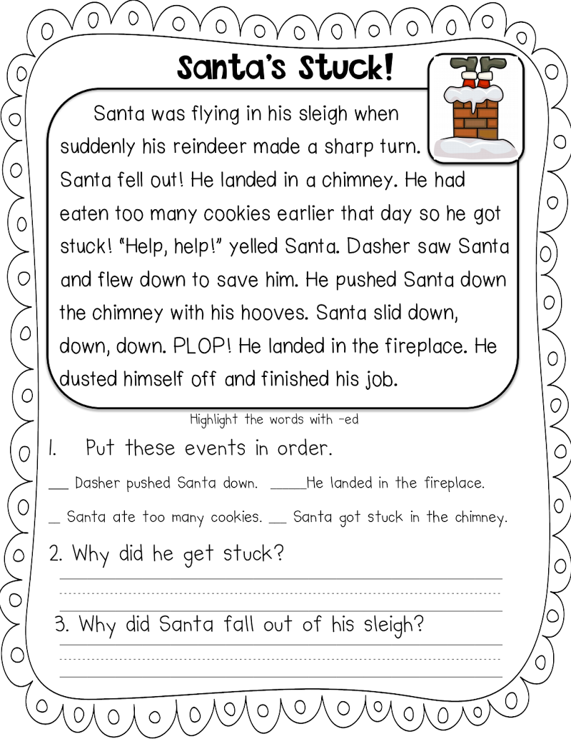 Staggering Christmas Reading Comprehension Pdf Picture