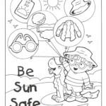 Sun Safe Colouring Sheet Summer Safety Abcteach Christmas