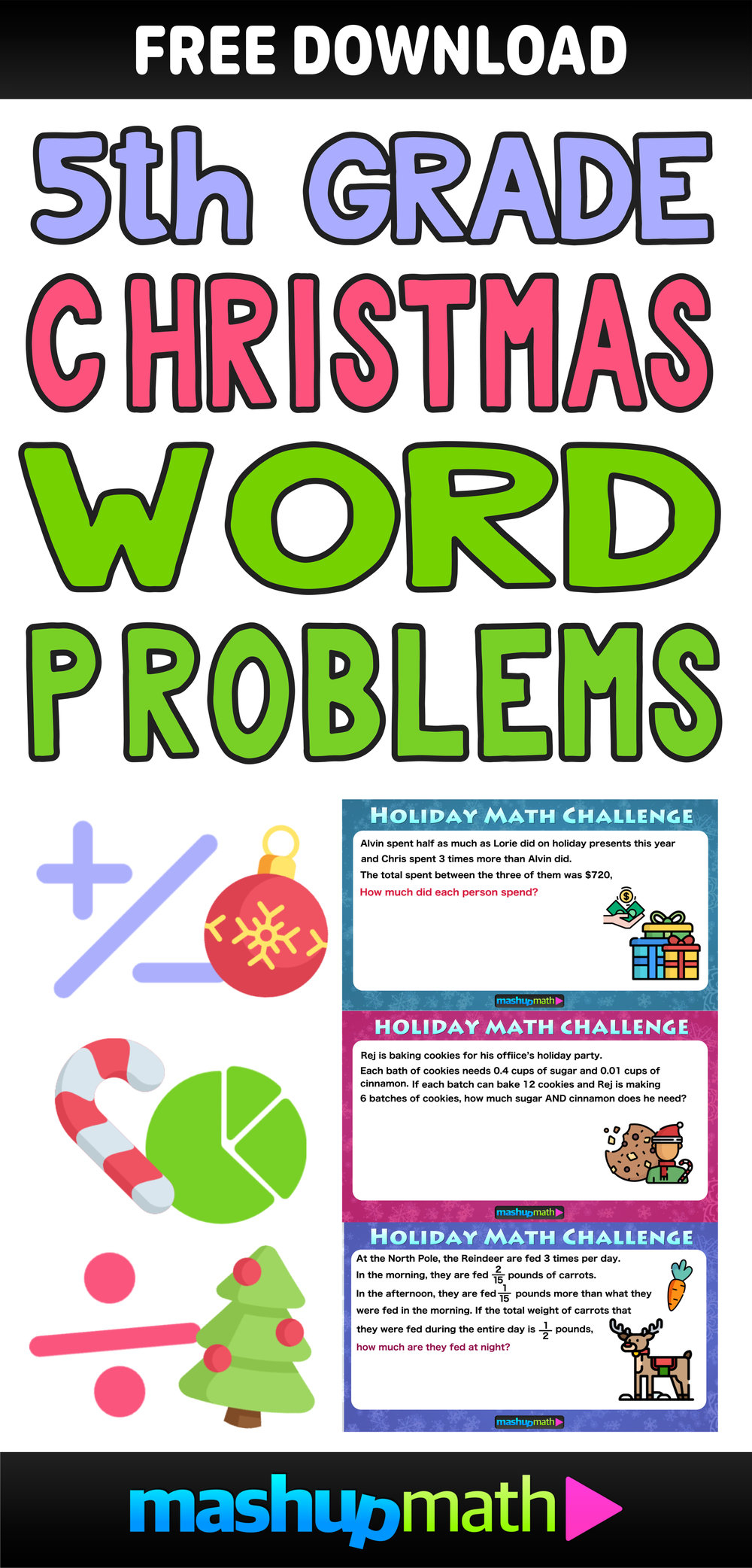 The Best Math Christmas Word Problems For 5Th Grade — Mashup