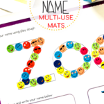 These Free Playdough And Tracing Name Mats Are So Versatile