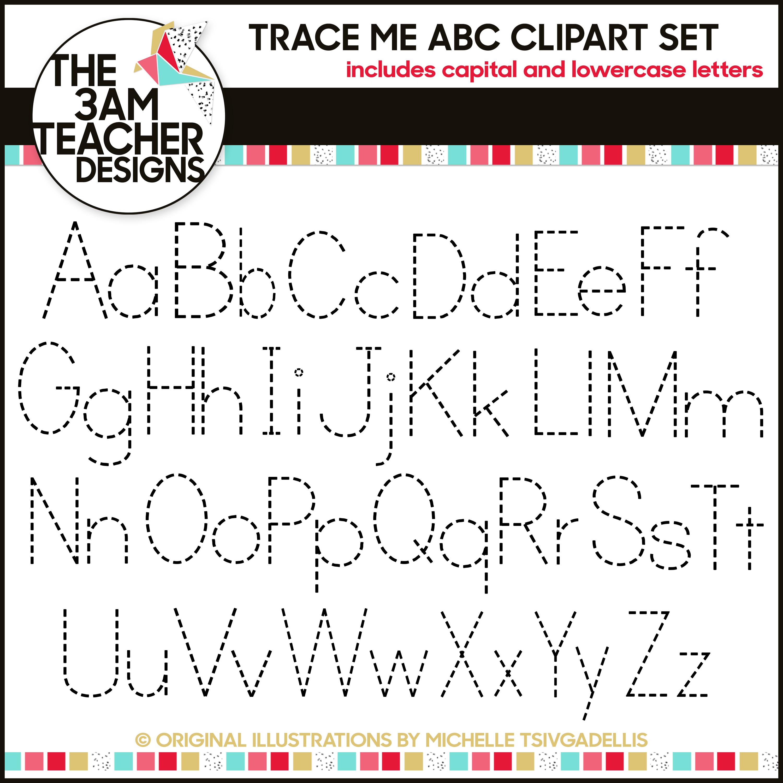 Trace Me Alphabet Letters A-Z | Lettering Alphabet, Teacher