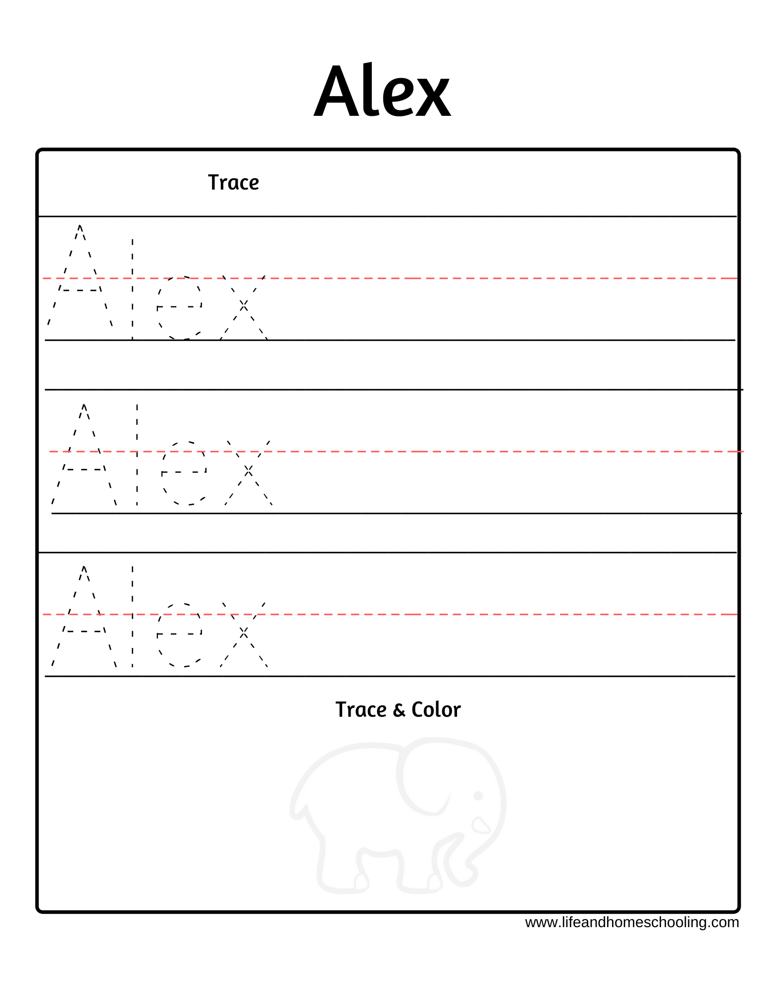 Trace My Name Worksheet In 2020 | Name Tracing Worksheets
