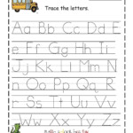 Traceable Alphabet Free Printable Letter Worksheets In 2020
