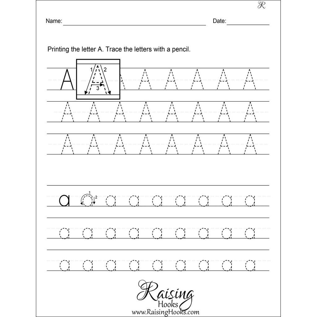Tracing Each Letter Worksheets Raising Hooks Alphabet