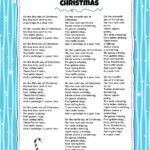 Twelve Days Of Christmas | Kids Video Song With Free Lyrics