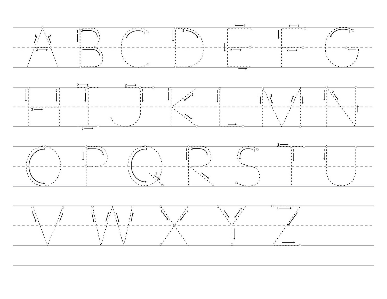 Uppercase Letter Tracingeet Freeeets Name Generator Alphabet
