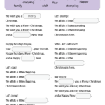 We Wish You A Merry Christmas Worksheet - Fill In The Blanks