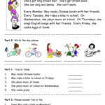 Worksheet ~ Ela Comprehensionheets 3Rd Grade Class Year