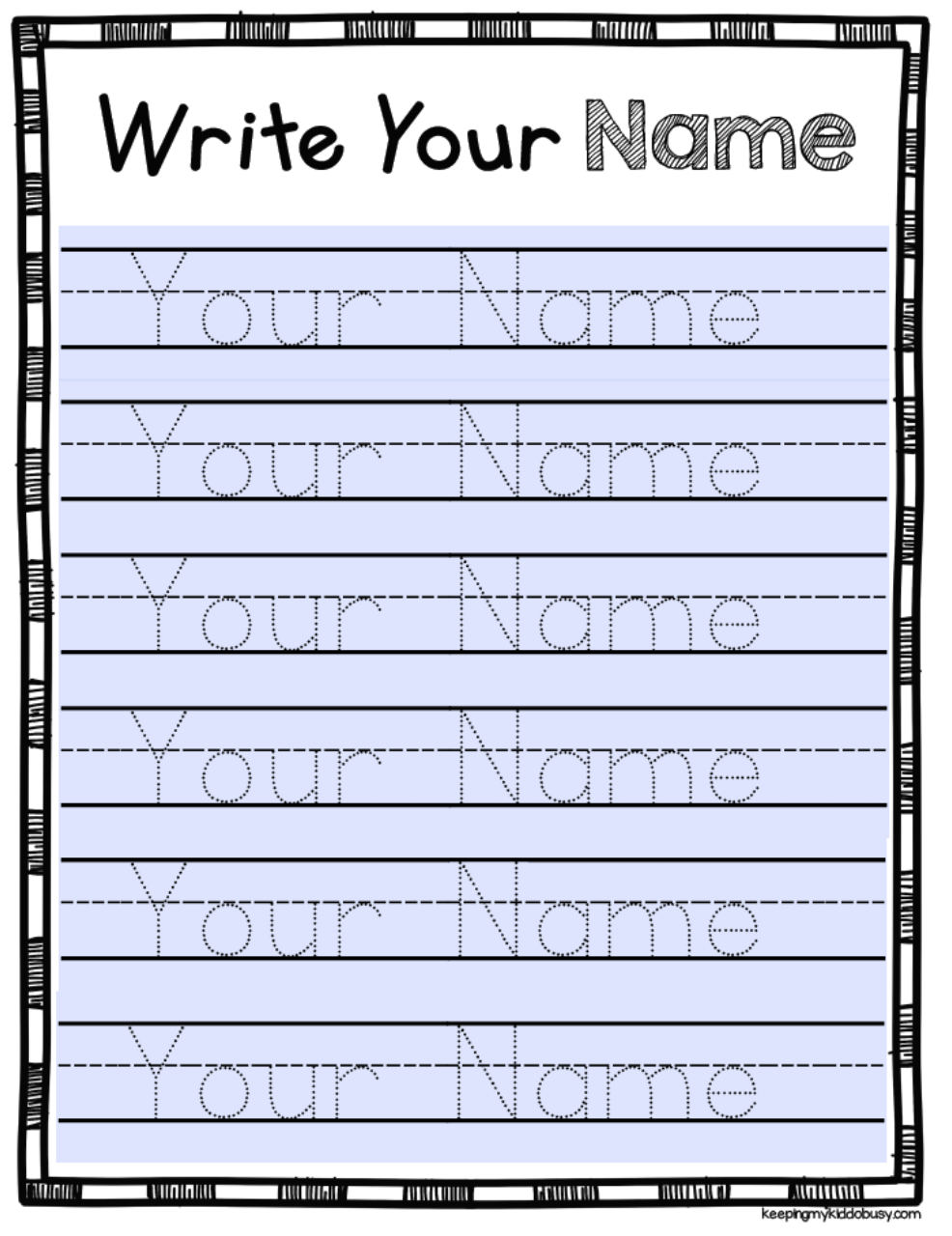 Worksheet Kindergarten Name Tracing Generator Free Printable
