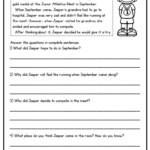 Worksheet ~ Worksheet Comprehension Stories For 2Nd Grade
