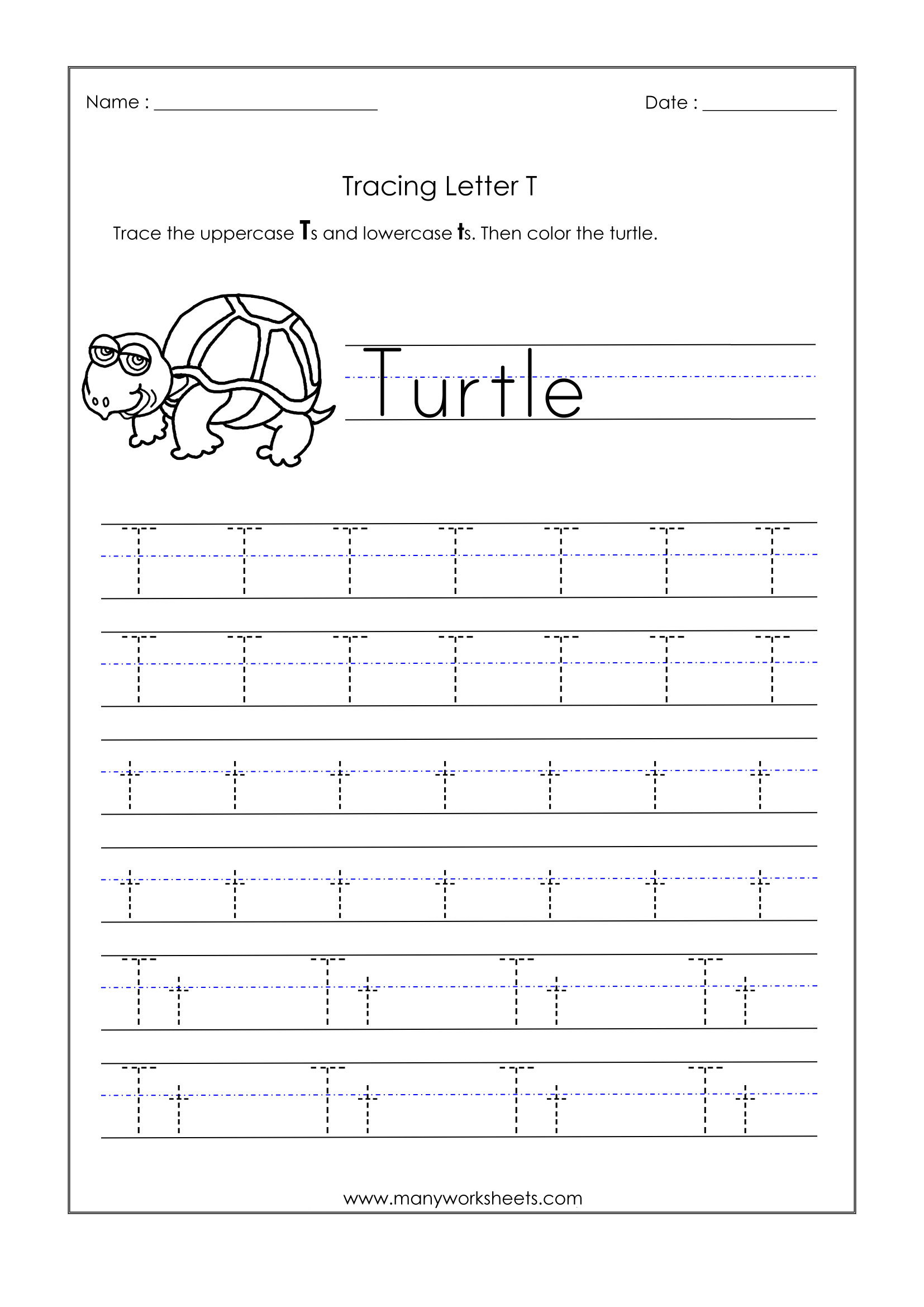 Worksheets Letter For Kindergarten Trace Dotted Letters