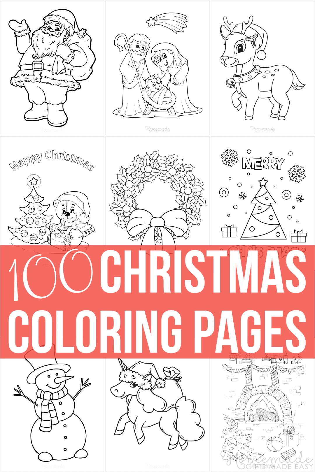 100 Best Christmas Coloring Pages | Free Printable Pdfs