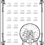 3 Digit Subtraction With Regrouping Worksheets 2Nd Grade