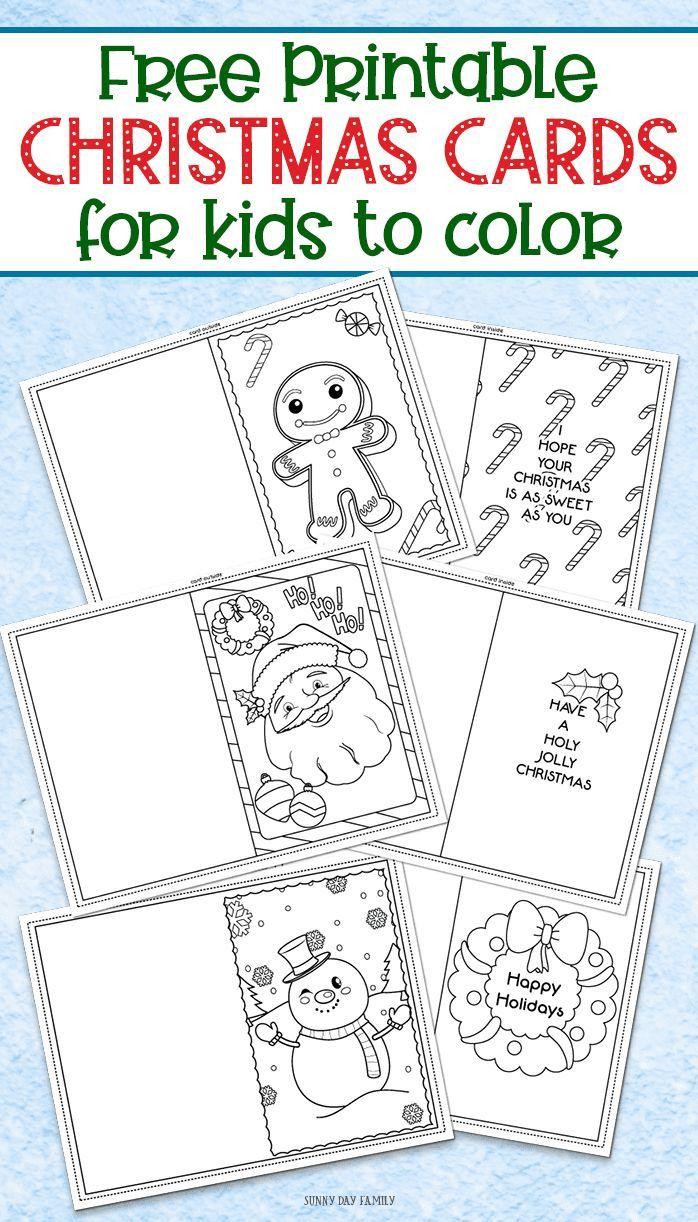 3 Free Printable Christmas Cards For Kids To Color