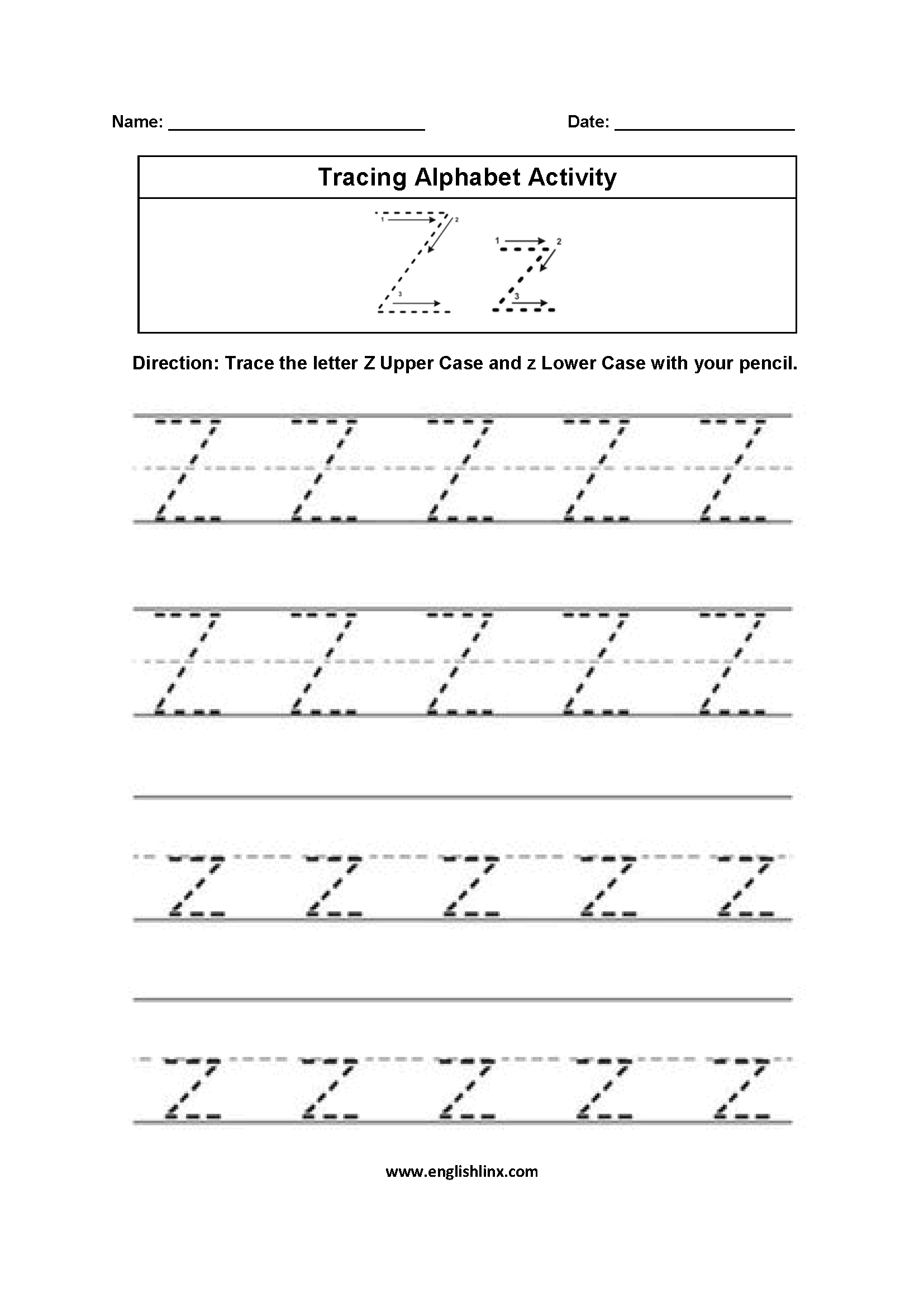 56 Amazing Alphabet Handwriting Worksheets A To Z