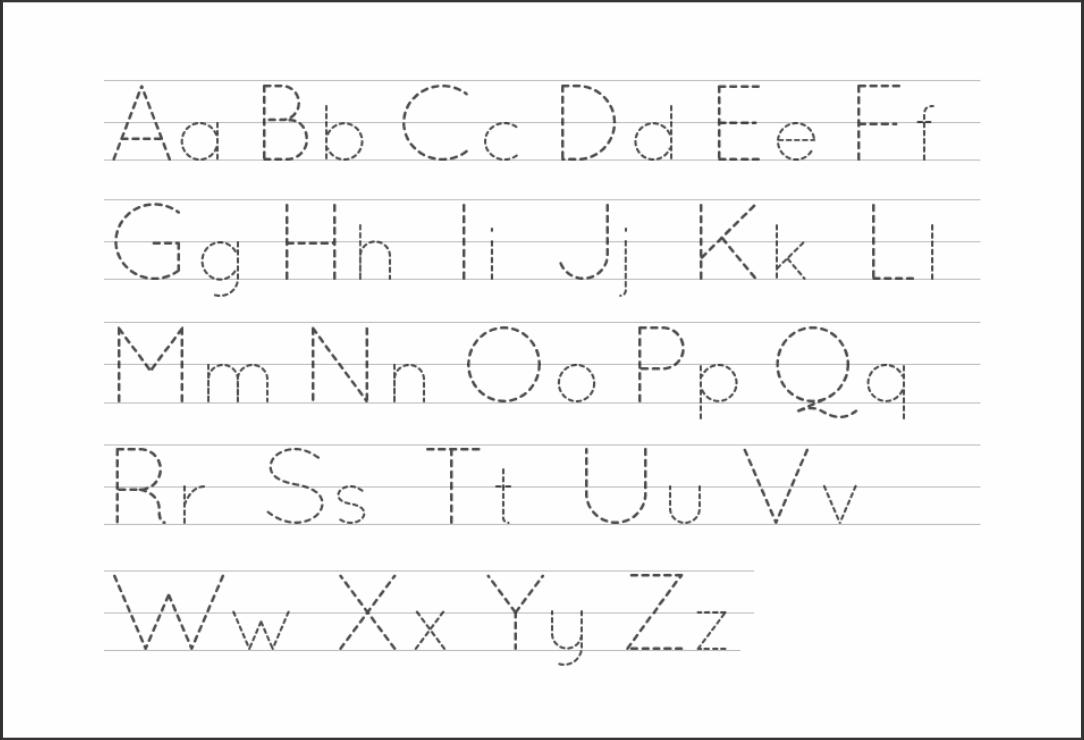 6 Best Free Printable Alphabet Tracing Letters - Printablee