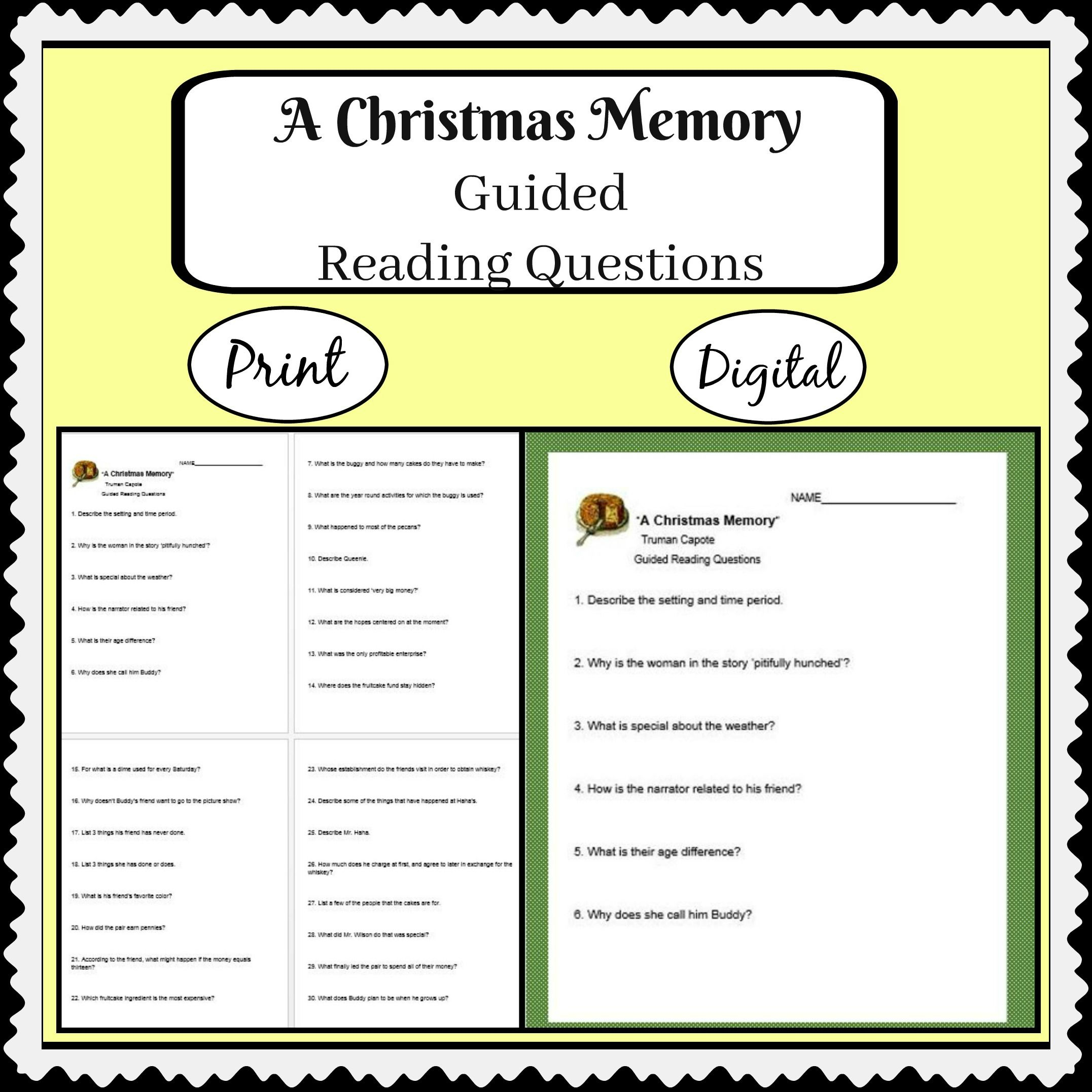 A Christmas Memorytruman Capote With Guided Reading