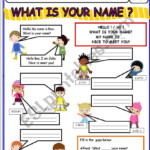 A Worksheet On Introducing Yourself Hello, What Is Your Name