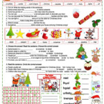 A Xmas Cloze - English Esl Worksheets For Distance Learning