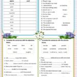 Adjectives-Adverbs Worksheet