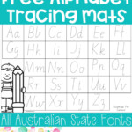 Alphabet Tracing Mats (Print And Australian Fonts