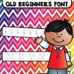 Alphabet Tracing Strips Qld Beginners Font | Alphabet