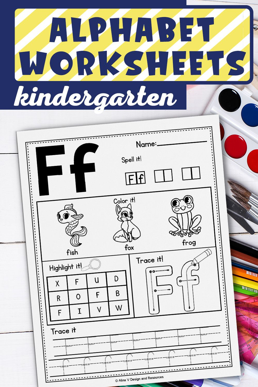 Alphabet Worksheets A-Z, Alphabet Tracing, Letter