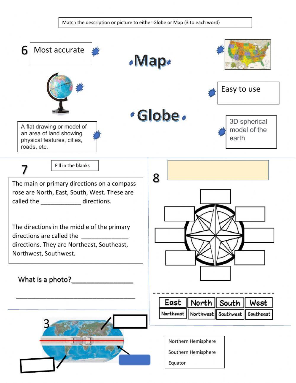 Basic Map Skills Worksheet