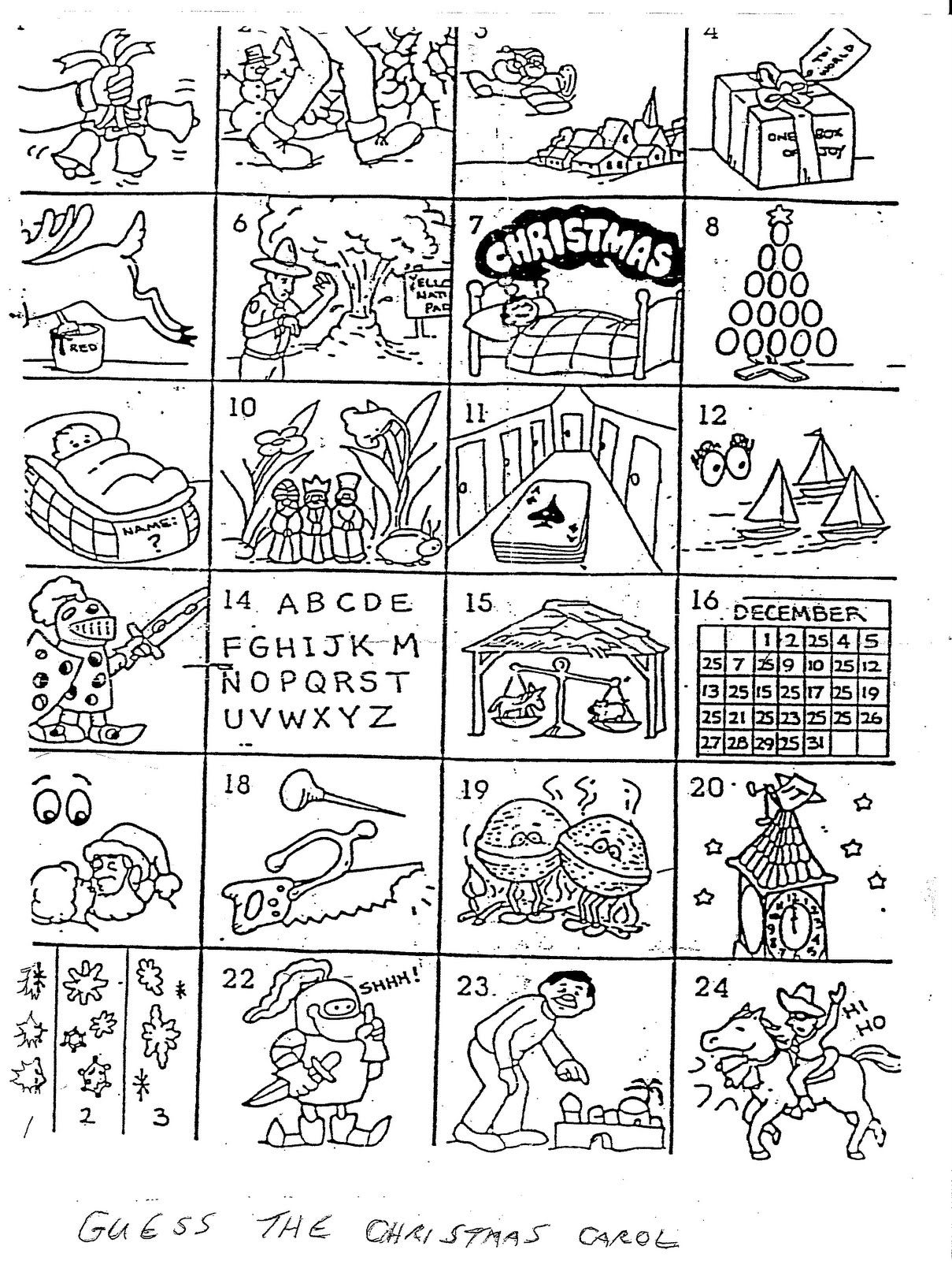 Can You Name The Christmas Carol In Each Box? - That Bloomin
