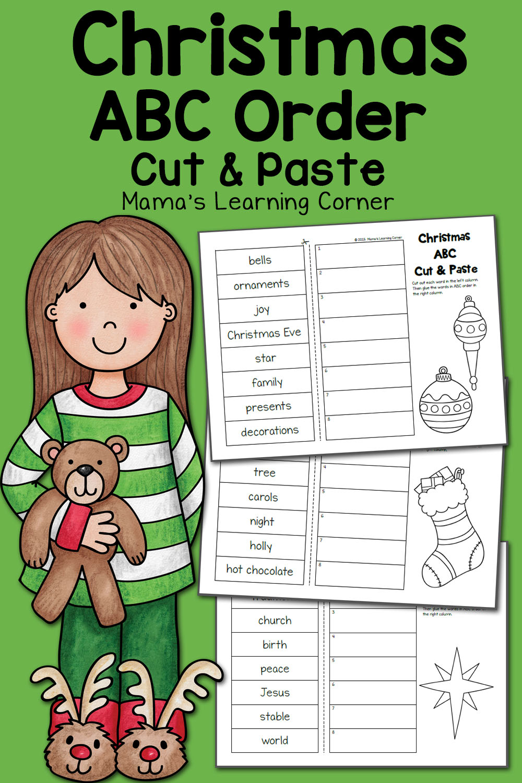 Christmas Abc Order Worksheets: Cut And Paste! - Mamas
