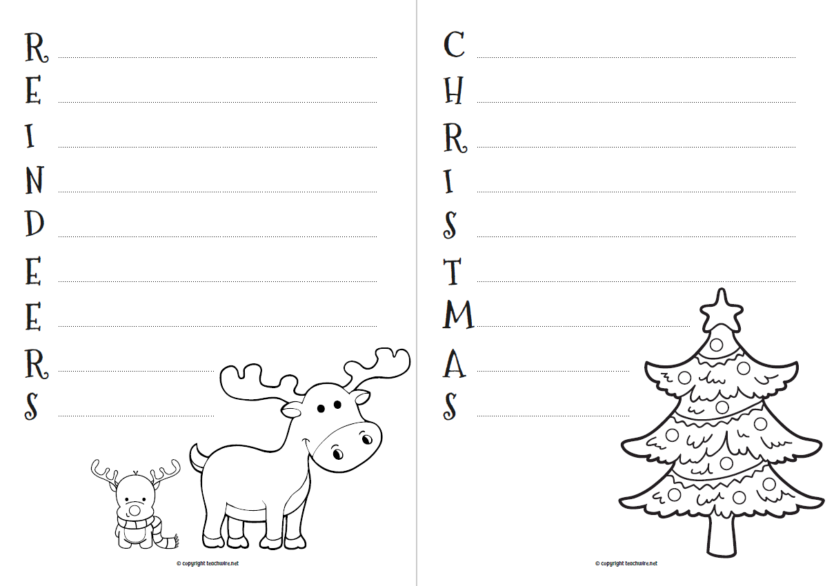 Christmas Acrostic Poems Worksheet For Primary | Teachwire