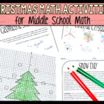 Christmas Activity Worksheets For Middle School Math - Make