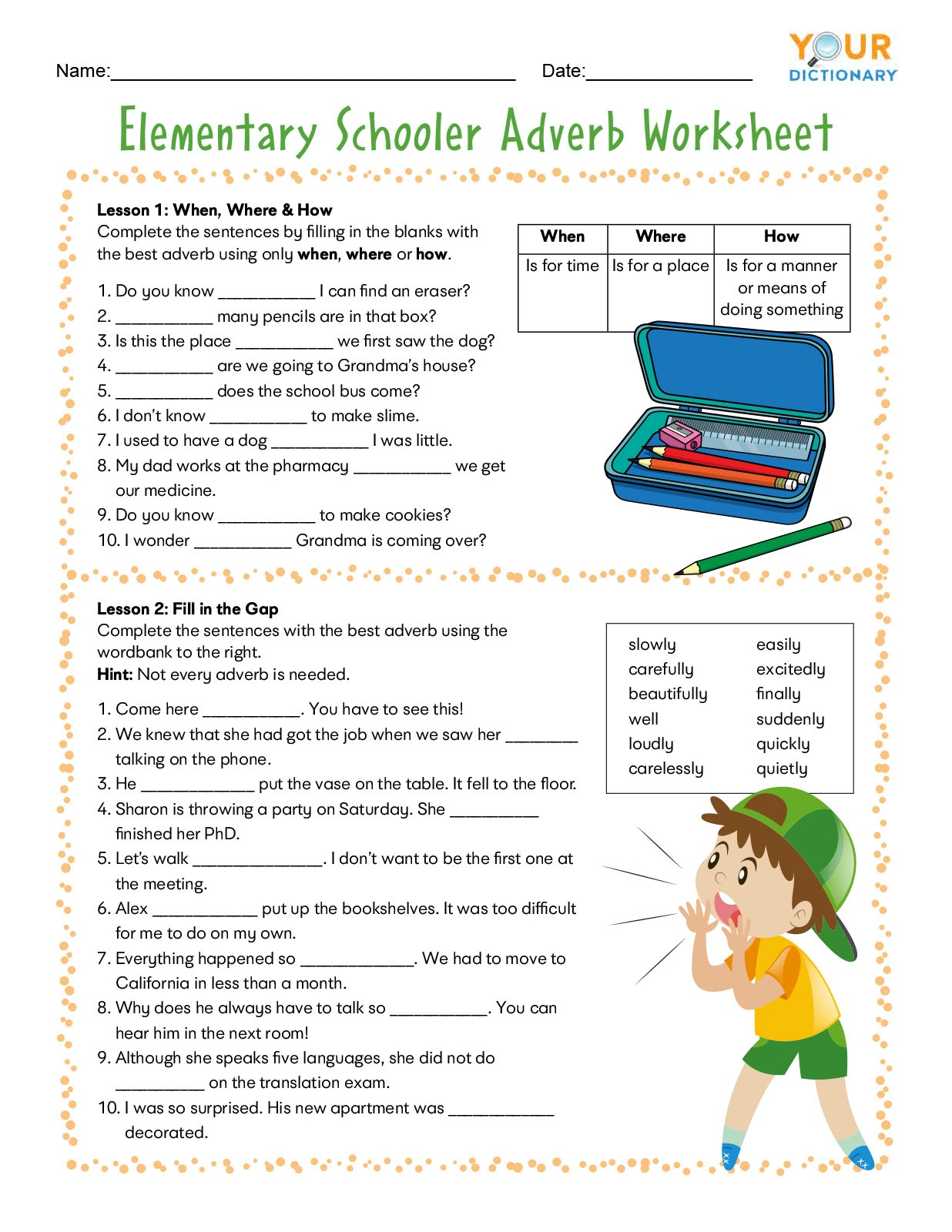 Christmas Adverb Worksheet | Printable Worksheets And