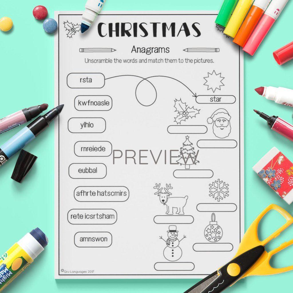 Christmas 'anagrams'   Christmas Activities For Kids, Kids