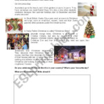 Christmas Around The World - Esl Worksheetbertabas