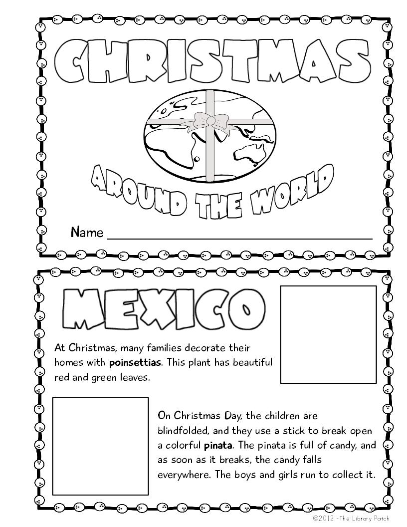 Christmas Around The World Mini Book Activity   Book