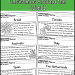 Christmas Around The World Reading Comprehension Passages (K