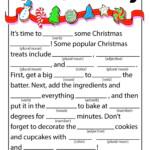 Christmas Baking Kid's Mad Libs | Woo! Jr. Kids Activities