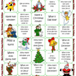 Christmas Board Game - English Esl Worksheets For Distance