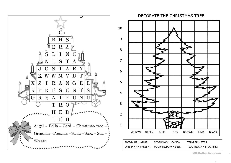 Christmas Booklet - English Esl Worksheets For Distance