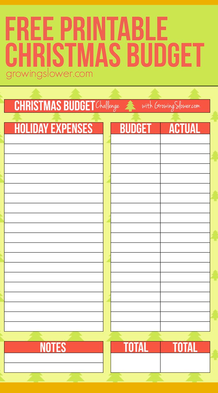 Christmas Budget Worksheet Printable | Christmas On A Budget
