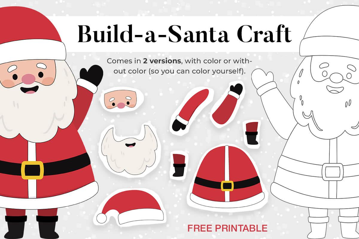 Christmas Build-A-Santa Craft - Mrs. Merry