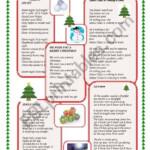 Christmas Carols - Esl Worksheeta_K_