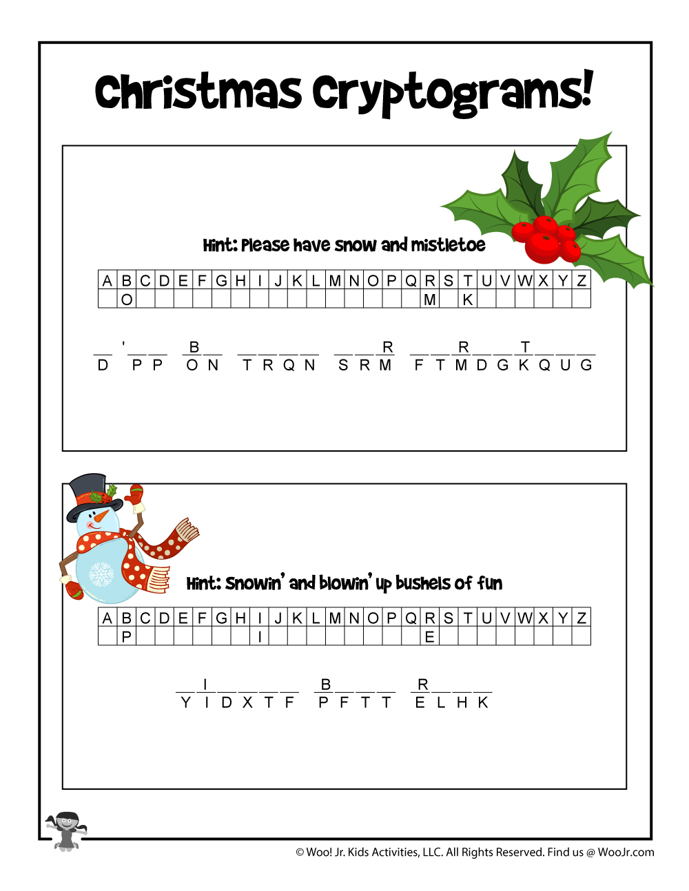 Christmas Carols Printable Puzzle Game | Woo! Jr. Kids