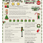 Christmas Carols Worksheet