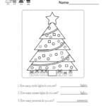 Christmas Classification Worksheet - Free Kindergarten